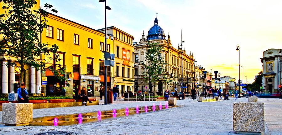 Barwne wodotryski na Krakowskim Przedmieściu