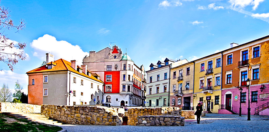 Lublin-Plac Po Farze na starówce