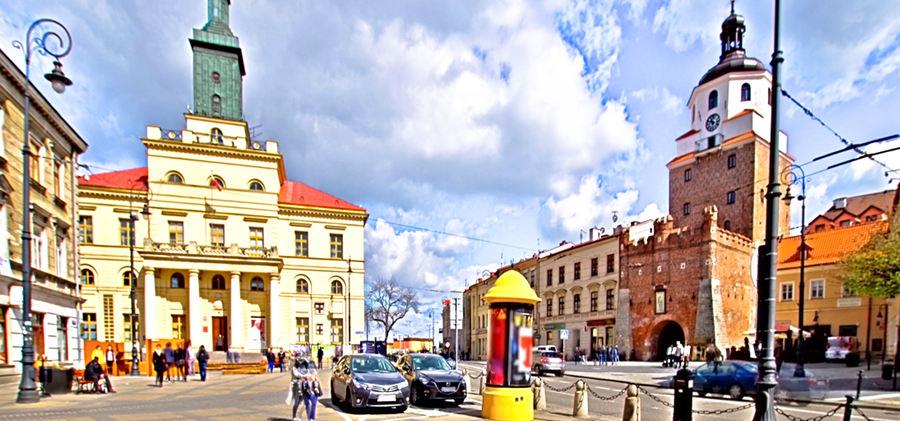 Ratusz i Brama Krakowska w Lublinie