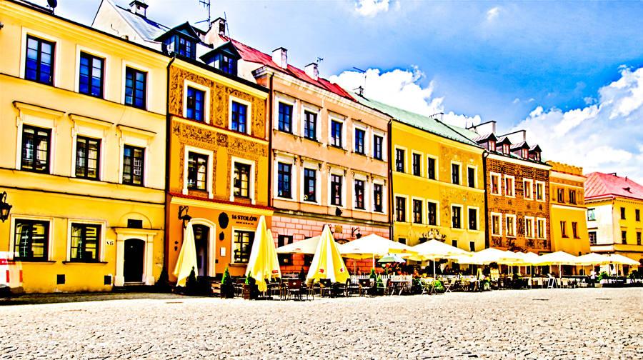 Lublin - Rynek: kamienice pierzei południowej