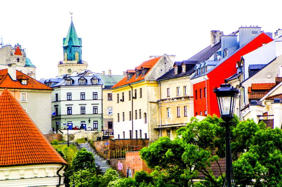 Lublin - schody wiodące do Placu Po Farze