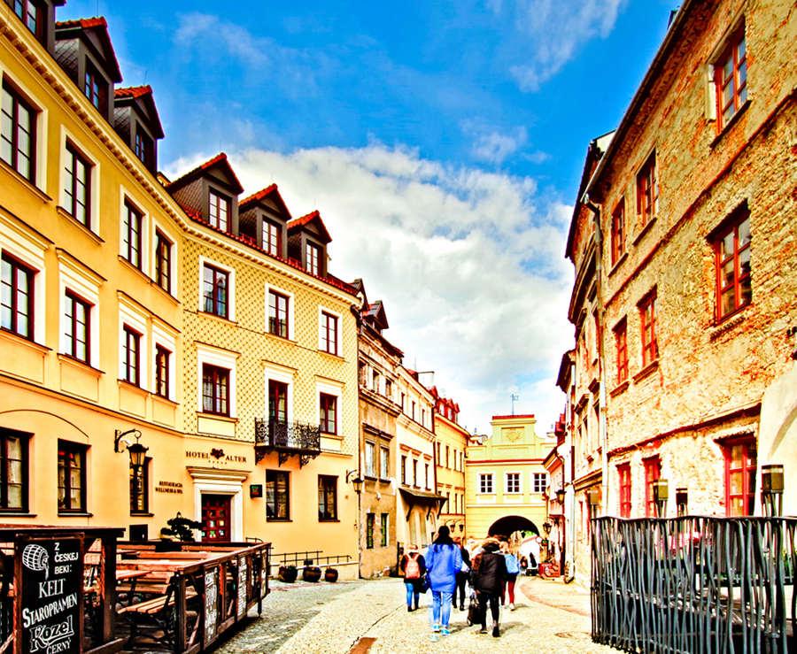 Lublin - trakt pieszy do Bramy Grodzkiej