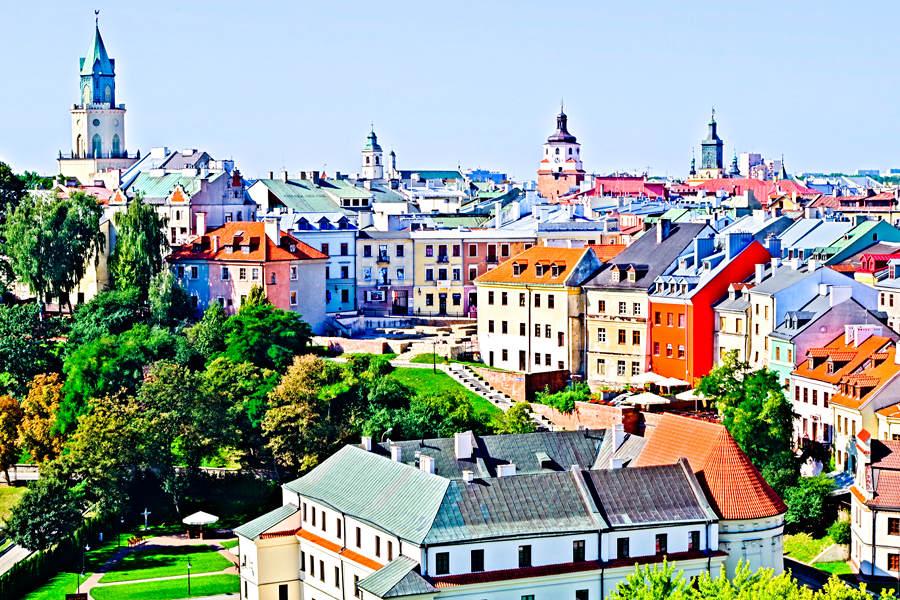 Panorama z baszty Zamku Lubelskiego