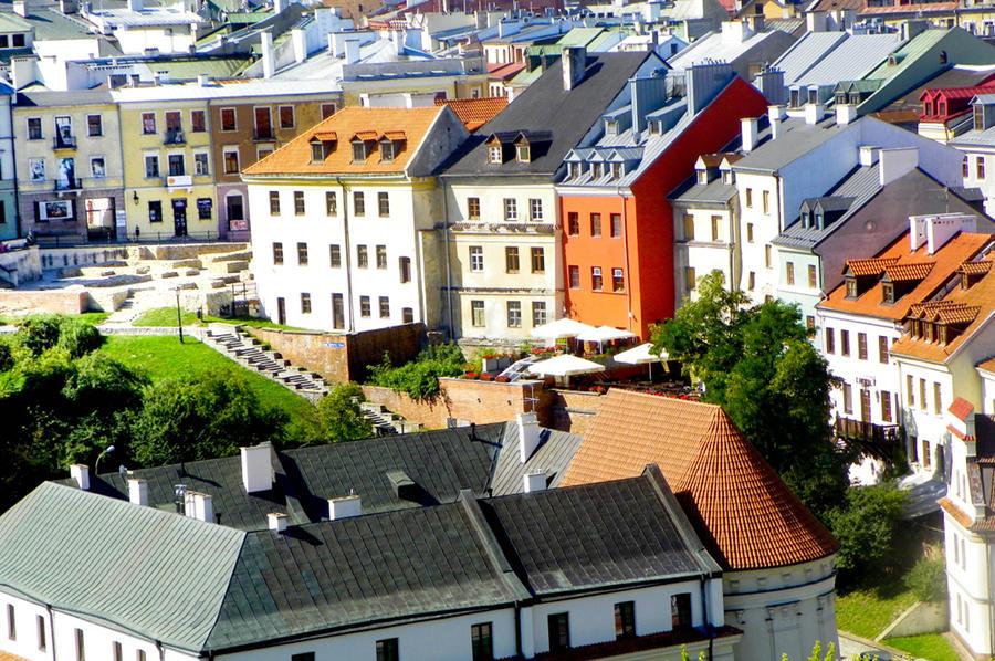 Lublin -widok z baszty na Plac Po Farze