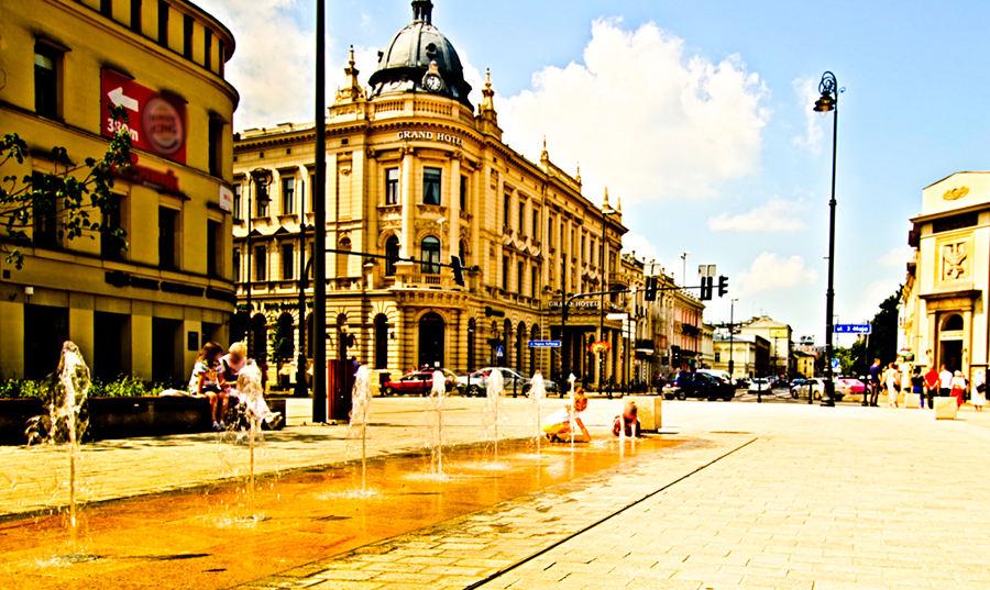 Lublin - wodotrysk na Krakowskim Przedmieściu