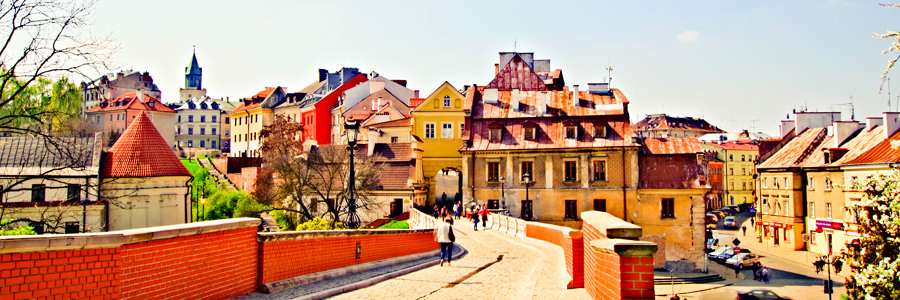 Widok z Zamku Lubelskiego na Stare Miasto
