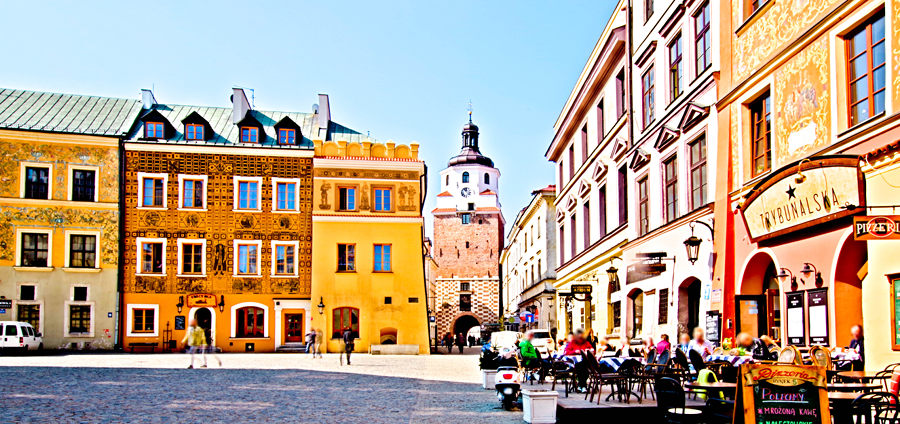 Lublin - Rynek i Brama Krakowska