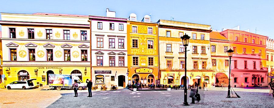 Lublin - Rynek: pierzeja zachodnia