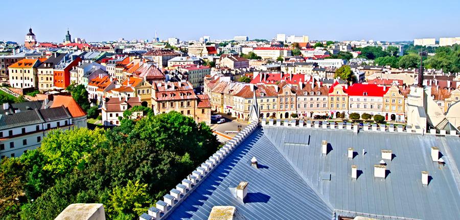 Lublin - widok z baszty zamkowej
