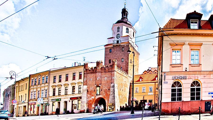Brama Krakowska w Lublinie, nieopodal Hotelu Vanilla