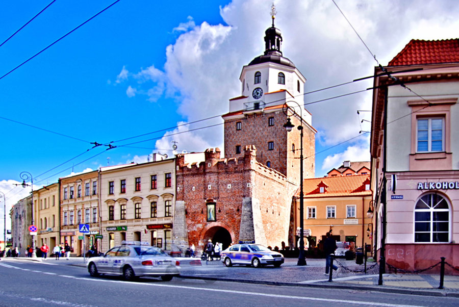Lublin - Brama Krakowska wiodąca na śtare Miasto