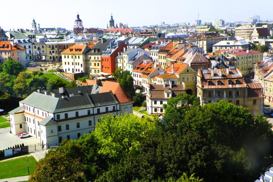 Otoczenie ulicy Grodzkiej w panoramie Starego Miasta w Lublinie