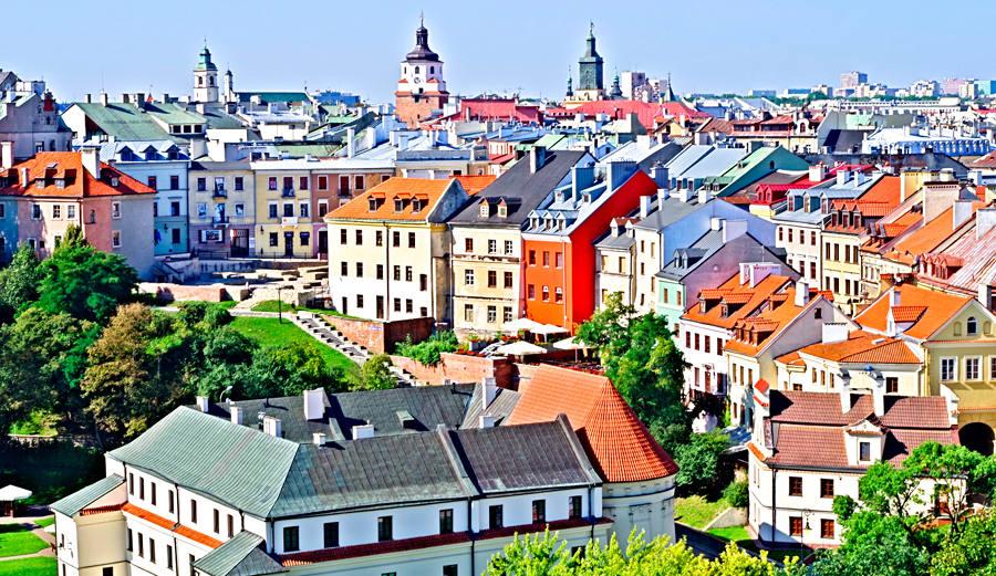 Fragment panoramy Starego Miasta w Lublinie