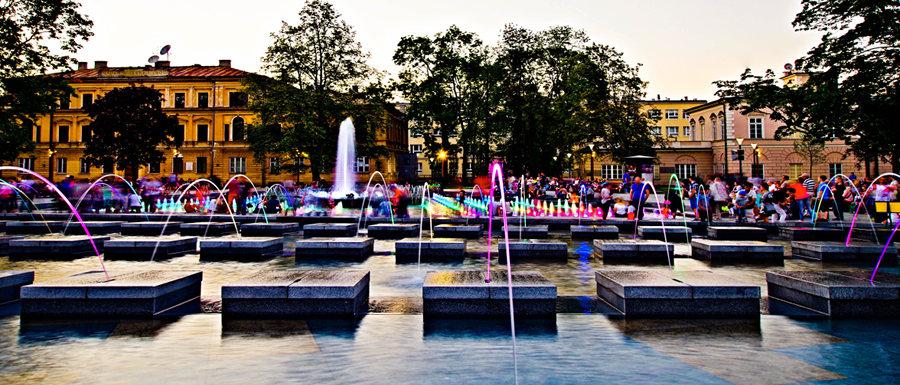 Nad fontanna w Lublinie