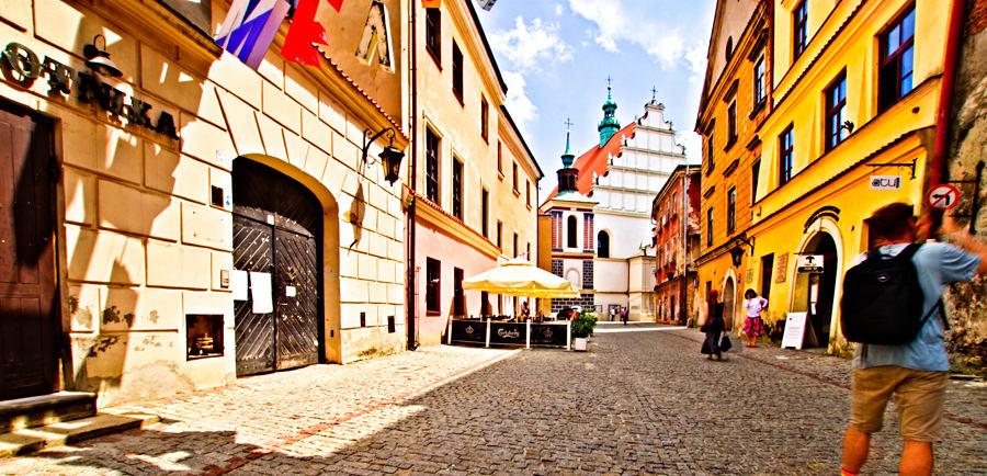 Lublin - zwiedzanie ulicy Złotej