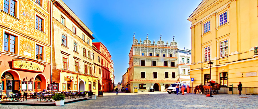 Na Rynku Starego Miasta w Lublinie