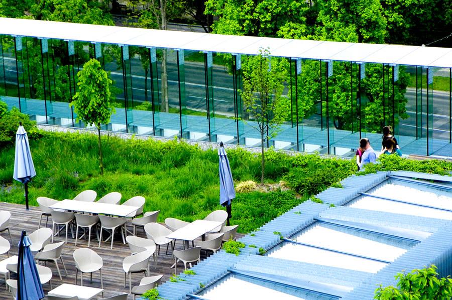 Zielony taras widokowy CSK