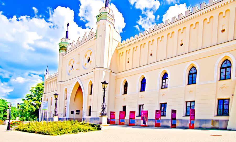 Fronton Zamku w Lublinie w perspektywie