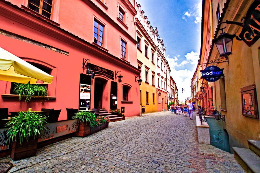 Ulica Grodzka w kierunku Zamku w Lublinie