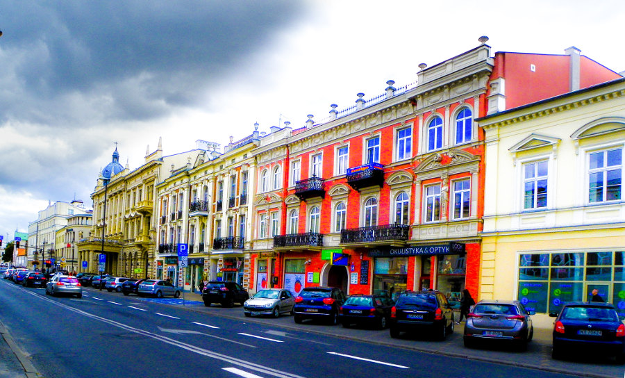 Krakowskie Przedmieście niedaleko Campanile