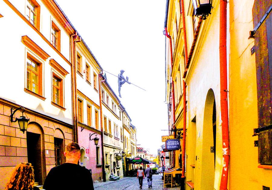 Linoskoczek na Starym Mieście w Lublinie