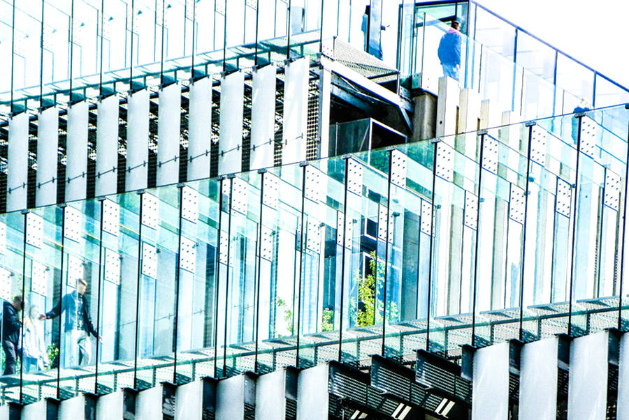 Na schodach tarasu CSK