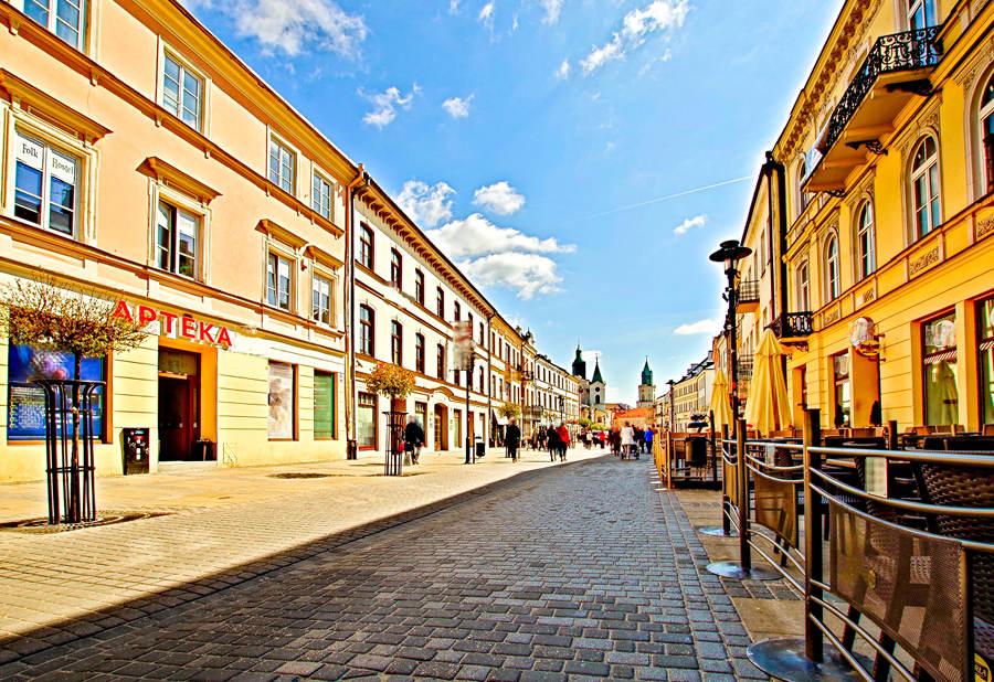 Trakt pieszy w centrum Lublina
