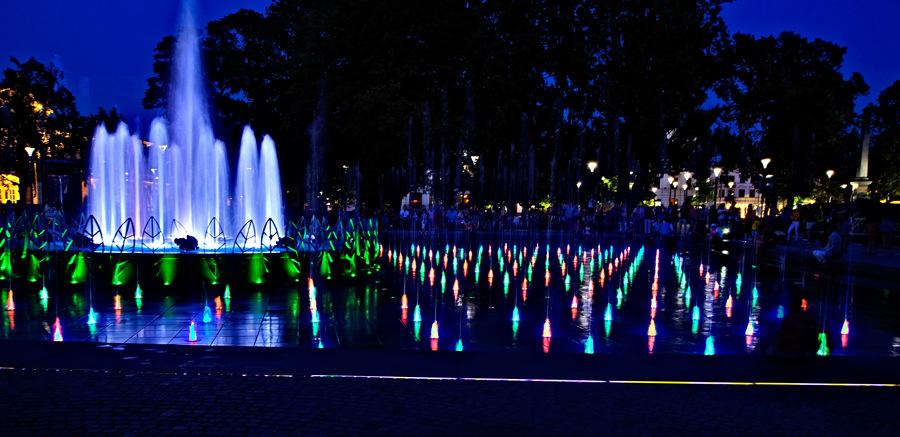 Wodna układanka w fontannie