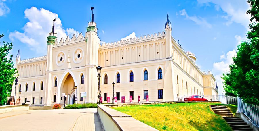 Zamczysko w Lublinie - widok z daleka