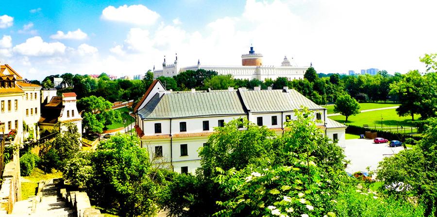 Zamek w Lublinie w oddali