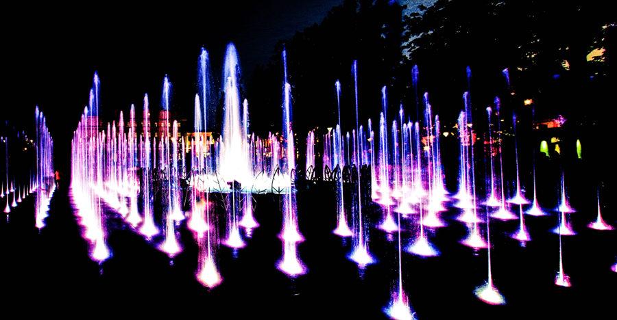 Zmiksowane barwy fontanny