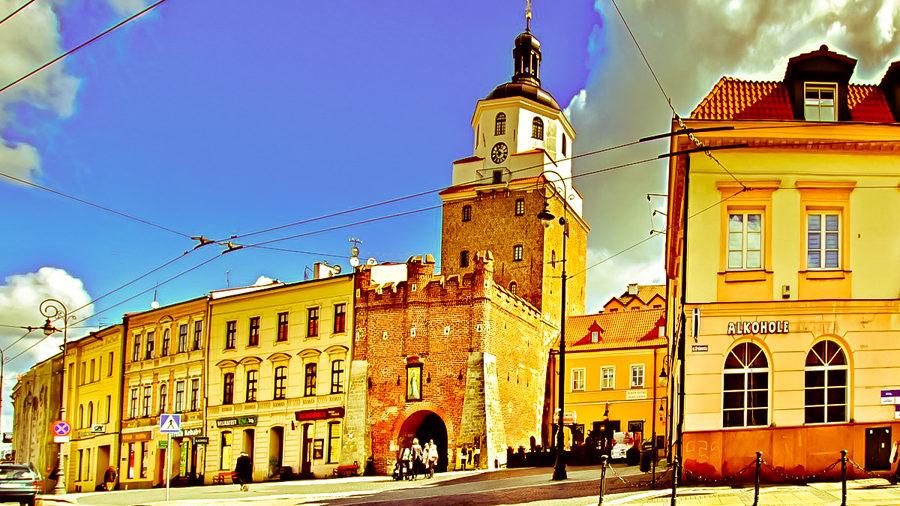 Brama Krakowska nieopodal Hotelu Waksman Lublin