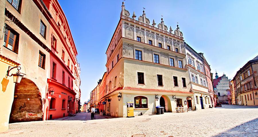 Kamienica Cichoszewska na zdjęciu z tarasu Hotelu Trybunalska w Lublinie