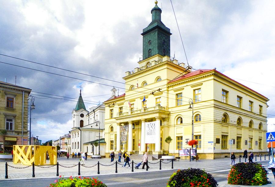 Ratusz w Lublinie w pobliżu hotelu Alter