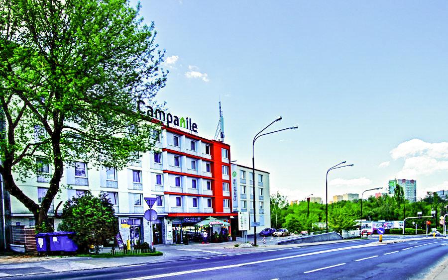 Zdjęcie ul. Lubomelskiej z Hotel Campanile w Lublinie