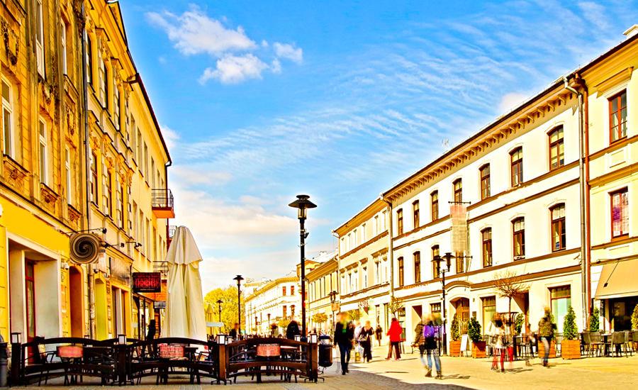 Krakowskie Przedmieście nieopodal Cent Hostel