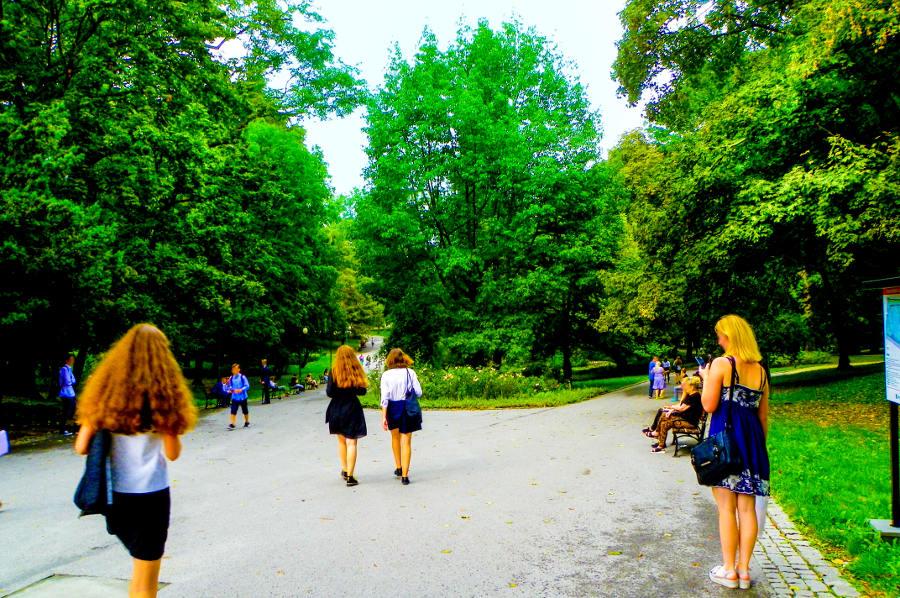 Ogród Saski blisko Hotelu Wieniawski w Lublinie
