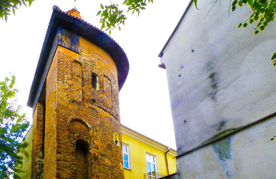 Fragment Hostelu Królewska, tuż za basztą na Starym Mieście w Lublinie