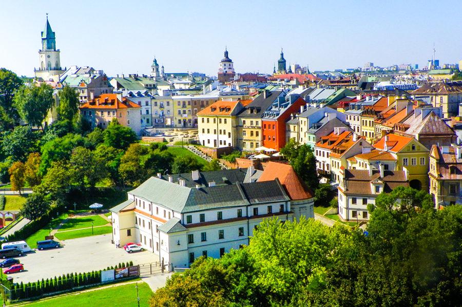 Bramma Cafe w panoramie Starego Miasta w Lublinie, w galerii zdjęć