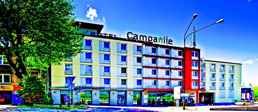 Fronton Hotelu Campanile w Lublinie, w galerii zdjęć