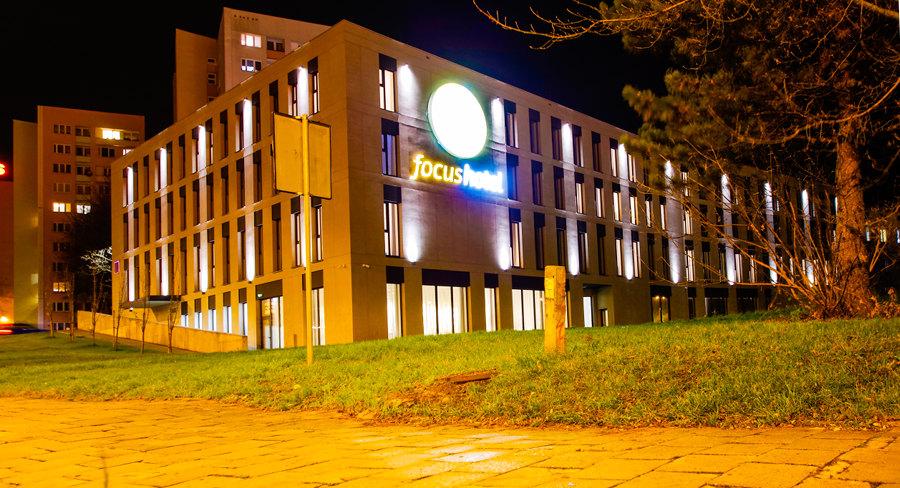 Wieczór nad Focus Hotel Premium Lublin, w galerii zdjęć