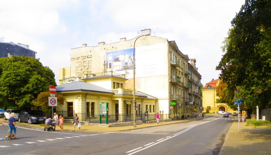 Cent Hostel w Lublinie, z oddali, do galerii zdjęć