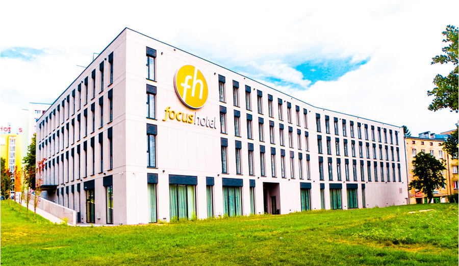 Widok na Focus Hotel Premium Lublin, do galerii zdjęć