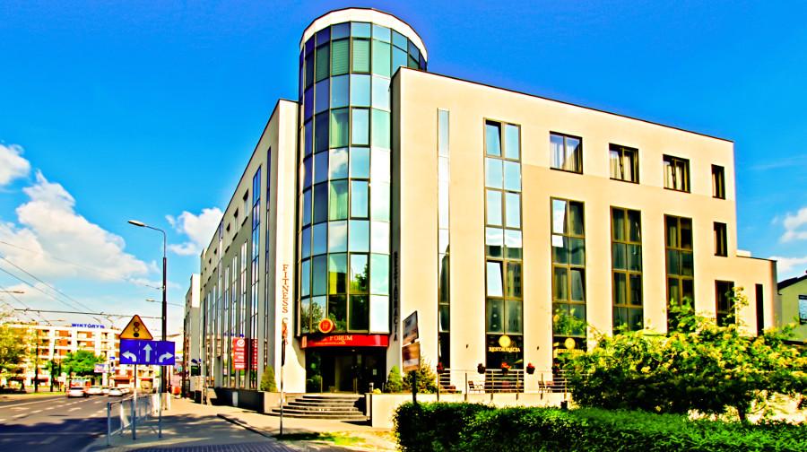 Hotel Forum w Lublinie - widok z daleka do galerii zdjęć