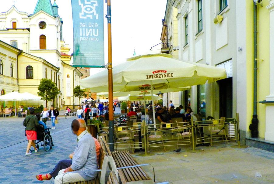 Ogródek przy Hotelu Vanilla w Lublinie - zdjęcie do galerii
