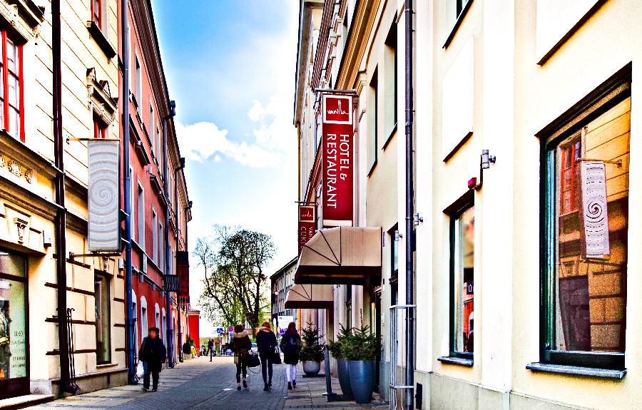 Wejście do Hotelu Vanilla w Lublinie - zdjęcie do galerii