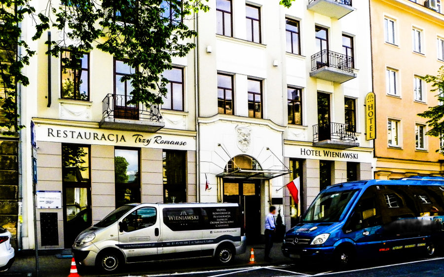 Frontonik Hotelu Wieniawski w Lublinie - zdjęcie do galerii