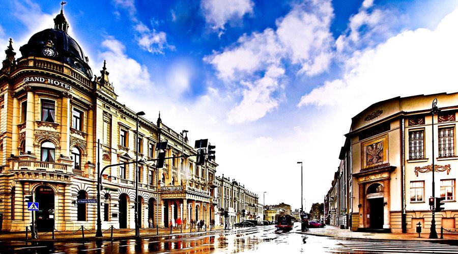 Widok na IBB Grand Hotel Lublinianka z Krakowskim Przedmieściem - zdjęcie do galerii