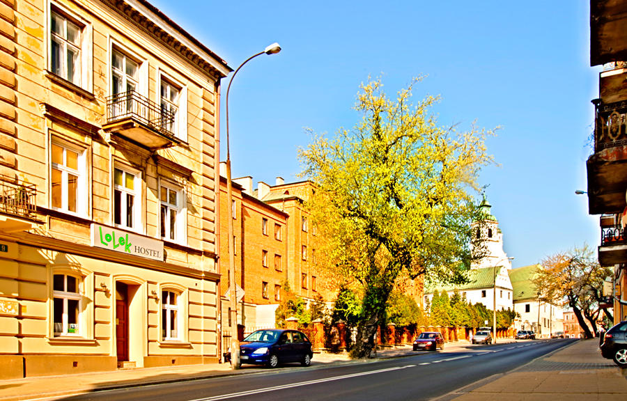 Perspektywa Lolek Hostel w Lublinie, z ul.Bernardyńskiej - zdjęcie do galerii