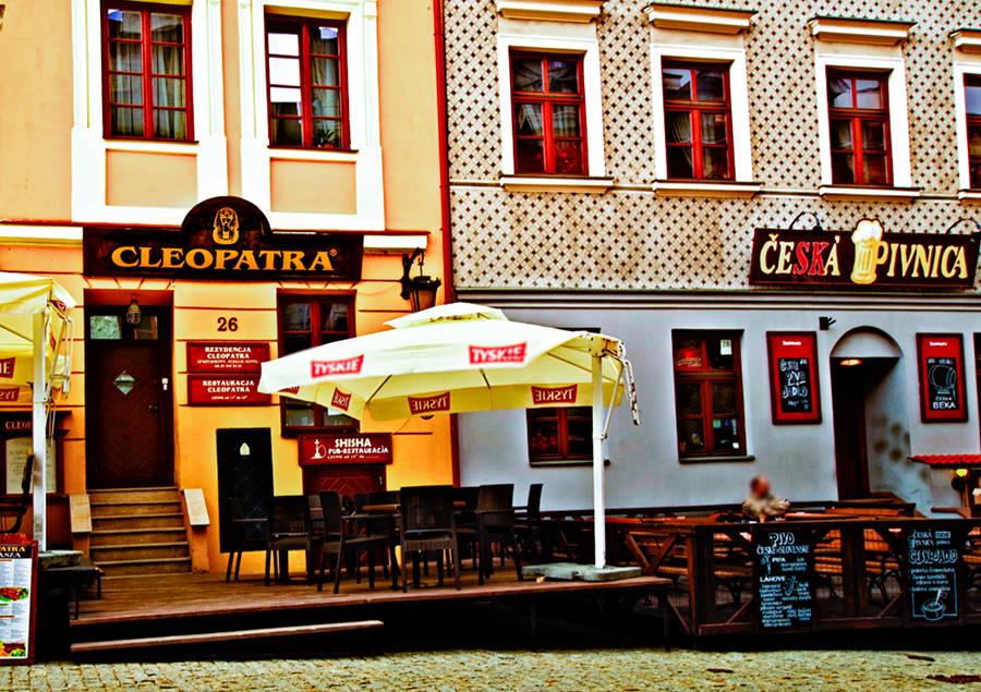 Wejście do hotelu Rezydencja Cleopatra w Lublinie - zdjęcie do galerii